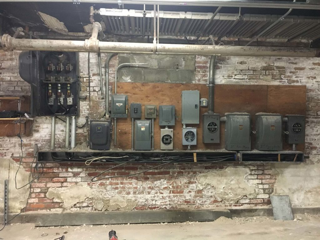Old dusty electrical panels - Before Project Begins