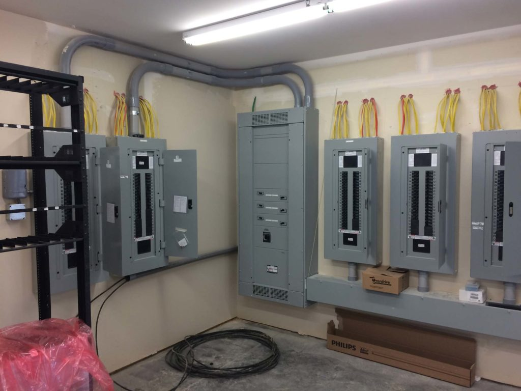 Motel Service showing clean, new electrical panels